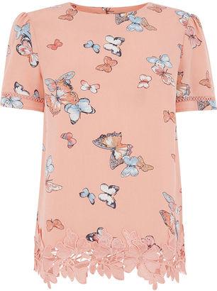 Oasis Butterfly Print T-Shirt