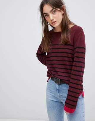 B.young Stripe Fine Knit Sweater