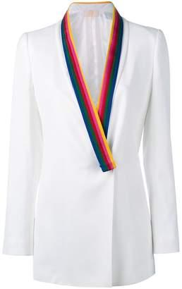 Sara Battaglia contrast lapel blazer