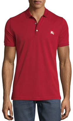 Burberry Kenforth Double-Stitch Trim Polo Shirt