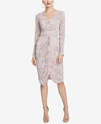 Rachel Roy Pleated Faux-Wrap Dress