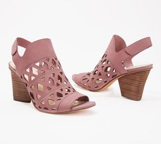 Vince Camuto Cutout Nubuck Heeled Sandals- Deverly