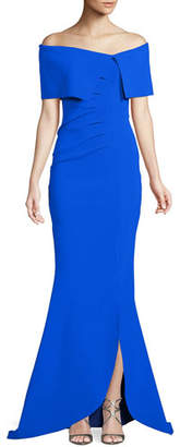 Chiara Boni Egida Asymmetric Off-the-Shoulder Mermaid Gown