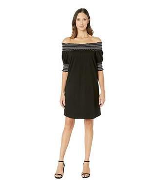 Tribal Soft Jersey Smocked Sleeve Dress