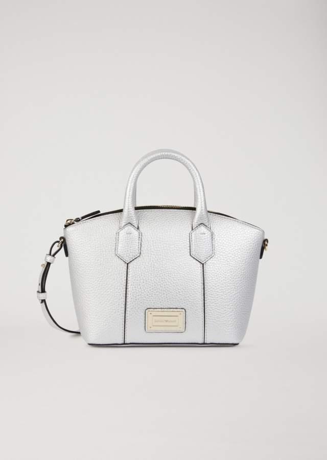 EMPORIO ARMANI mini bag in hammered faux leather