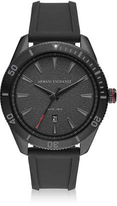 Armani Collezioni (アルマーニ コレッツォーニ) - Armani Collezioni Armani Exchange Enzo Black Silicone Mens Chronograph Watch