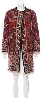 Tory Burch Tapestry Jaquard Knee-Length Coat w/ Tags