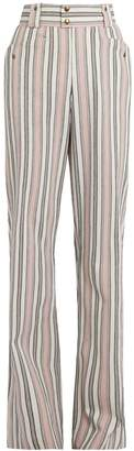 Isabel Marant Selina high-rise striped trousers