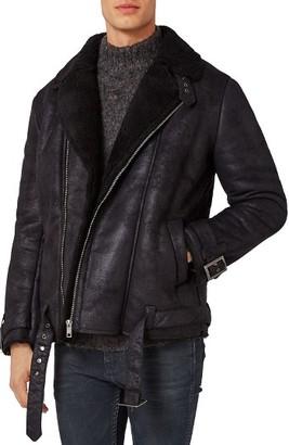 Men's Topman Faux Shearling Biker Jacket $170 thestylecure.com