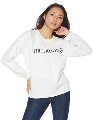 Billabong (ビラボン) - [ビラボン] [レディース] 丸首 スウェット (ロゴプリント)[ AI014-014 / SWEAT CREW ] トレーナー かわいい BLK_ブラック US M (日本サイズM相当)