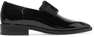 Lanvin - Bow-embellished Patent-leather Point-toe Flats - Black $945 thestylecure.com