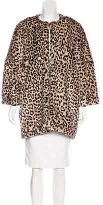 Jennifer Meyer Cheetah Print Short Coat