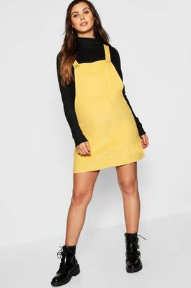 boohoo Maternity Baby Cord Pinafore Dress