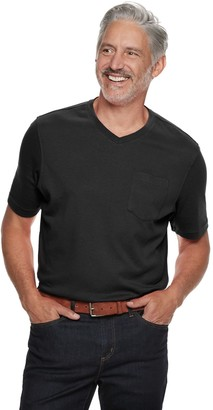 Croft & Barrow Men's Classic-Fit Easy-Care V-Neck Pocket Tee