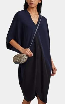 Zero Maria Cornejo Women's Koya Colorblocked Silk Dress - Black, Ink jet