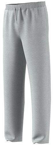 adidas Men's Team Issue Fleece Open Hem Pants, Light Grey Melange, X-Large