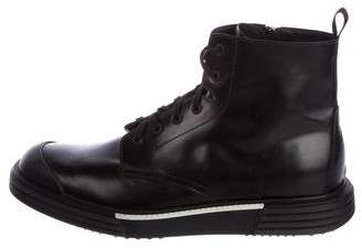 Prada 2018 Leather Sneaker Boots