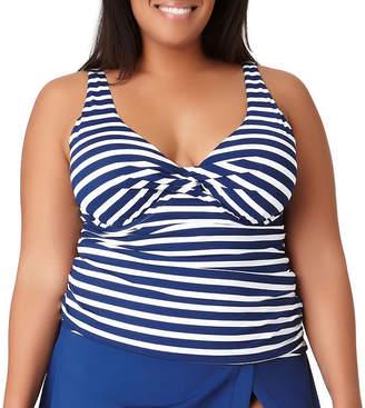 2e2c14e632 Liz Claiborne Blue Plus Size Swimsuits - ShopStyle