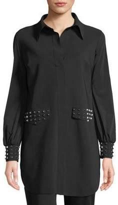Chiara Boni Maurizia Studded Long-Sleeve Tunic