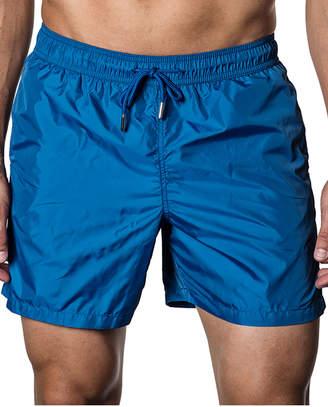 Jared Lang Solid Swim Shorts, Blue
