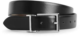Reiss Ricky - Reversible Leather Belt in Black/Dark Brown