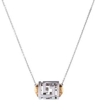 Versace Medusa Cube Pendant Necklace