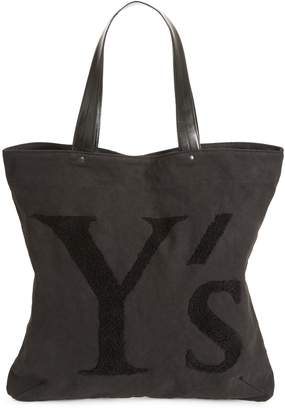 Yohji Yamamoto Y's by Embroidered Canvas Tote Bag