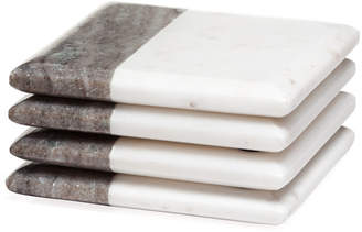 Torre & Tagus Two Tone Marble Coasters Square Set Of 4