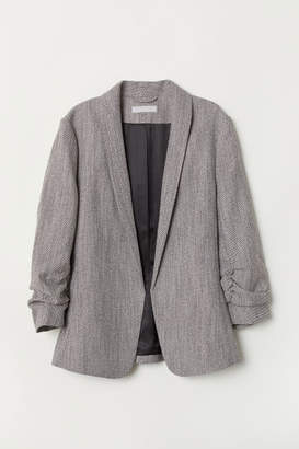 H&M Shawl-collar Jacket - Gray