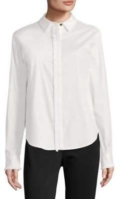 Donna Karan Long-Sleeve Button-Down Shirt