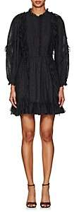 Ulla Johnson Women's Presley Bibbed Dotted Voile Dress - Black