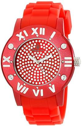 Burgmeister Magic Women's Quartz Watch with Red Dial Analogue Display and Red Silicone Strap BM165-044