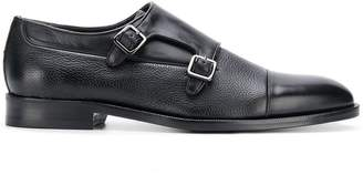 Canali leather monk shoes