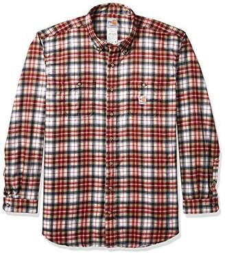 Carhartt Men's Flame Resistant Classic Plaid Long Sleeve Woven Shirt