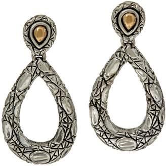 Croco Jai JAI Sterling Silver and 14K Drop Earrings