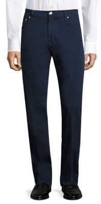 Corneliani Solid Cotton Pants