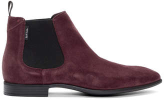 Paul Smith Red Suede Falconer Chelsea Boots