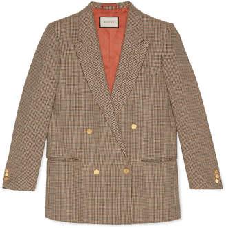 "Gucci Linen jacket with ""Spiritismo"" appliqué"