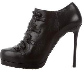 Tabitha Simmons Leather Round-Toe Booties