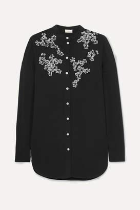 By Malene Birger Sabara Embellished Crepe Blouse - Black