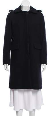 Les Prairies de Paris Structured Wool-Blend Coat