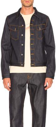 Nudie Jeans Kenny Jean Jacket in Dry Ecru Embo | FWRD