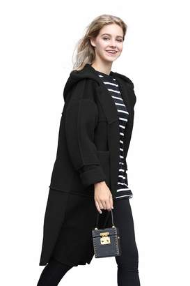 you.u Jacket Coat Women Winter Wool Long Coat Women Winter Long Vintage Casusal Jacket Women Long Sport Coat Women Zip Parka Jacket Women Hooded Quilted Jacket Women Sheepskin Faux Fur Jacket Women S
