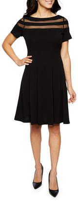 Studio 1 Short Sleeve Fit & Flare Dress