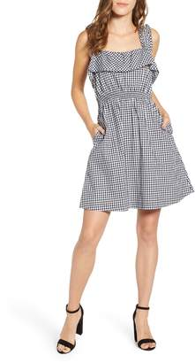 7 For All Mankind Gingham Ruffle Dress