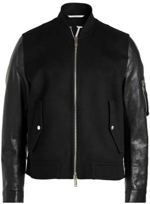 Valentino Virgin Wool Blouson with Leather Sleeves