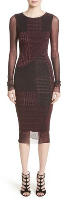 Women's Fuzzi Long Sleeve Tulle Midi Dress $475 thestylecure.com