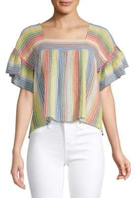 Saylor Francine Rainbow Stripe Top