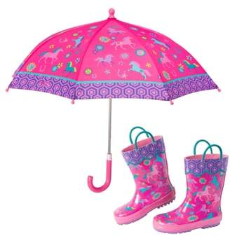 Stephen Joseph Print Rain Boots & Umbrella Set