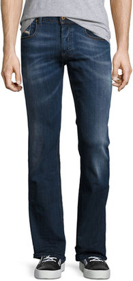 Diesel Zatiny 0679I Boot-Cut Jeans, Blue $178 thestylecure.com